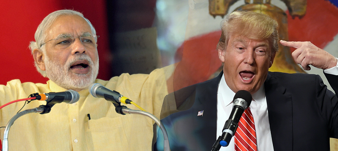 trump and modi marathipizza