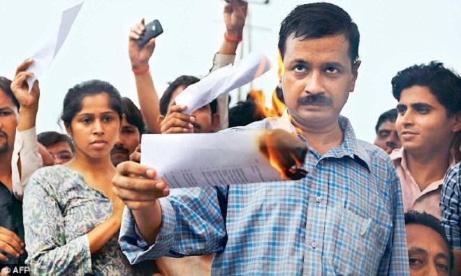 arvind kejriwal burning central governments lokpal bill marathipizza