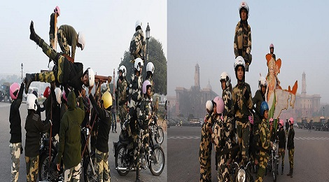 BSF Women Bikers.Inmarathi00