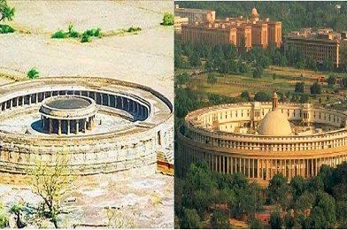 भारतीय संसद भवन ह्या शिव मंदिराची प्रतीकृती आहे?