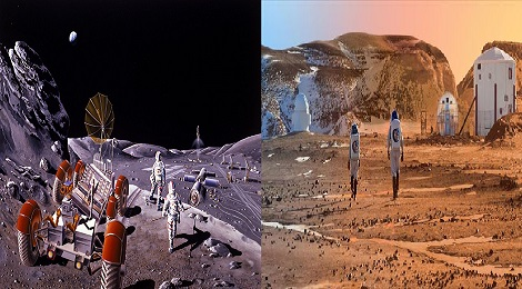 Colonies and humans will cultivate on the moon.Inmarathi00