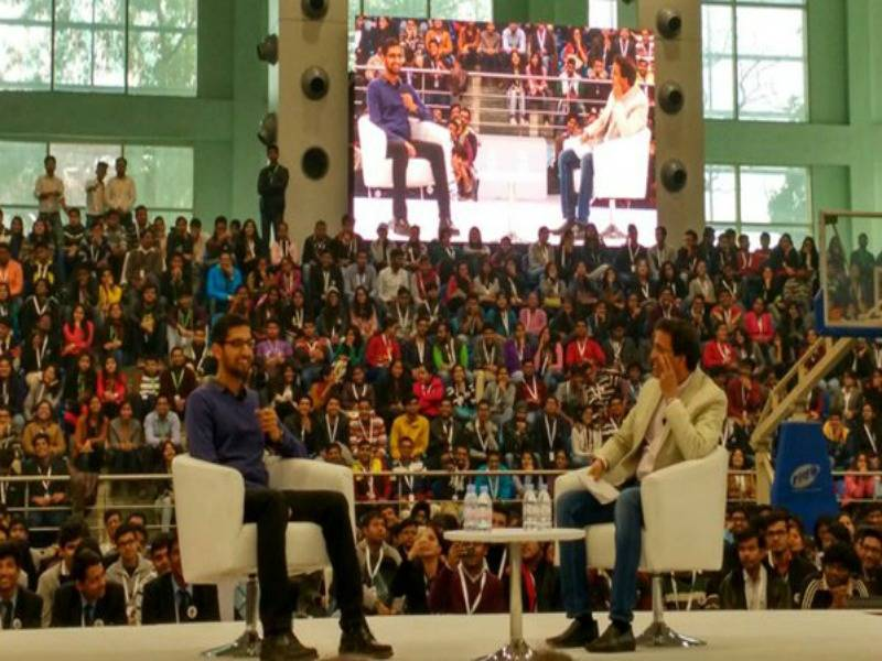 Sundar Pichai at SRCC