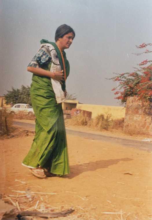 grandma collecting plastic bags marathipizza