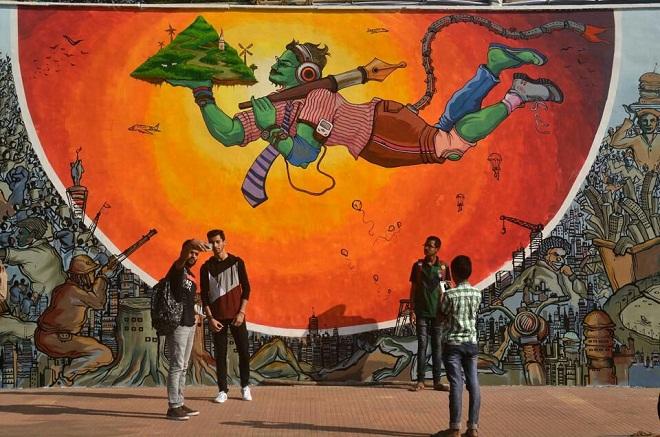 hanuman-wall-painting-mood-indigo-marathipizza