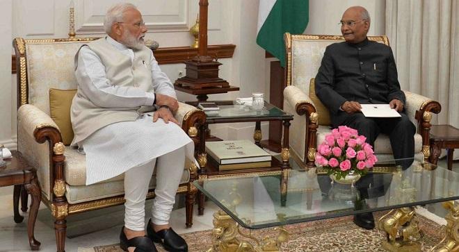 narendra modi and kovind 1 InMarathi