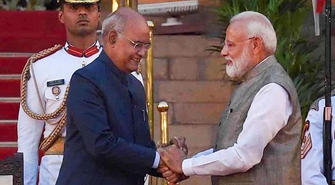 narendra modi and kovind InMarathi