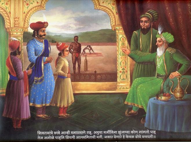 sambhaji-maharaj-visit-to-aurangzeb-at-agra-marathipizza