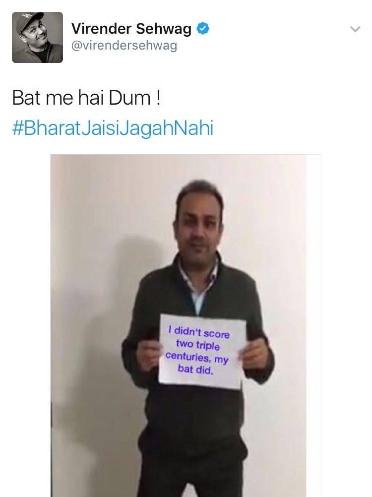 virendra sehwag-tweet-century-bat-marathipizza