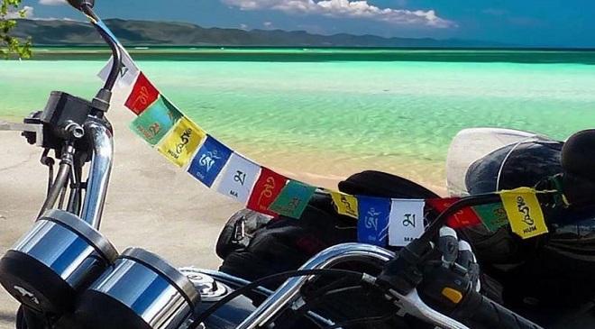 Prayer Flags on Bike Inmarathi