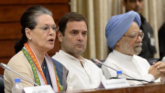 manmohan sigh and sonia gandhi inmarathi