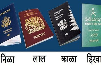जगभरातील कोणताही पासपोर्ट या चार रंगांमध्येच का असतो?