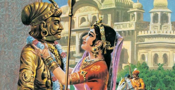 Prithviraj-Chauhan-Statue-with-Sayongita-marathipizza