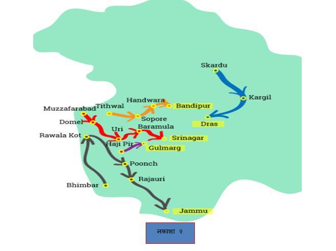 pakistan first attack map on kashmir marathipizza