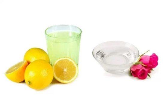 Lemon-Juice-And-Rose-Water-inmarathi