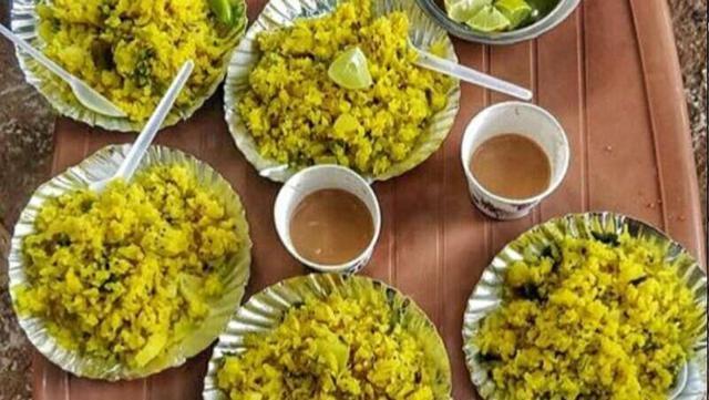 poha and tea InMarathi