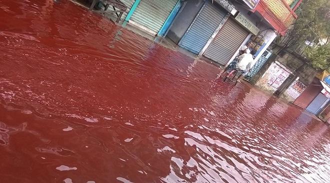 red rain in kerla InMarathi