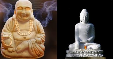 gautam buddha and luaghing buddha inmarathi