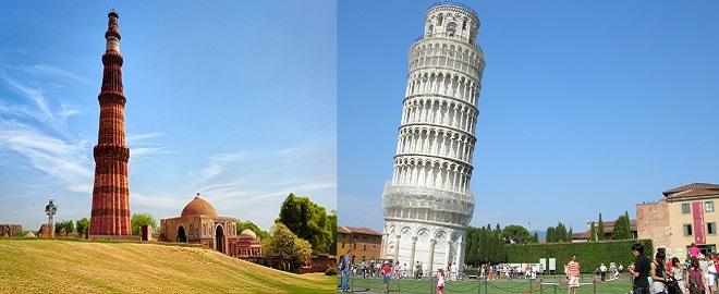 Qutub-Minar leaning tower-marathipizza
