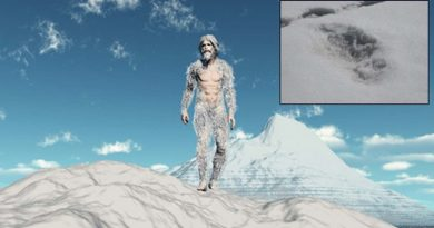 yeti footprints InMarathi