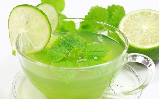 green tea inmarathi