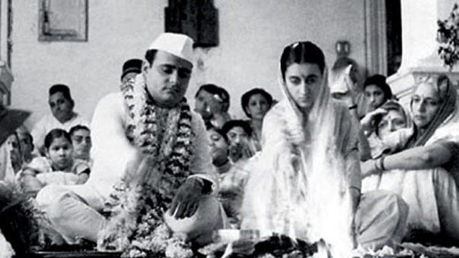 indira gandhi marriage inmarathi