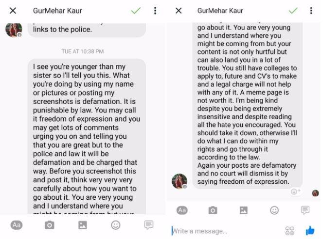 gurmehar kaur against freespeech threatening youngsters marathipizza