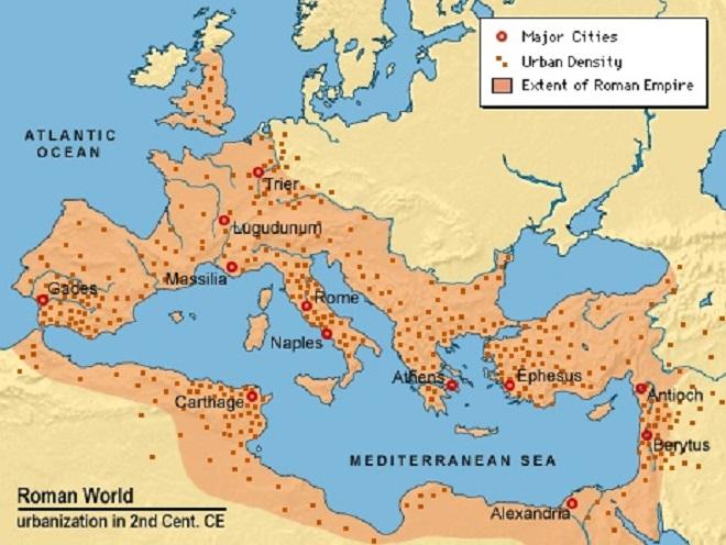 roman empire inmarathi