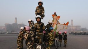 BSF Women Bikers.Inmarathi