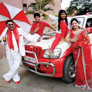 Red and white family bangalore.Inmarathi