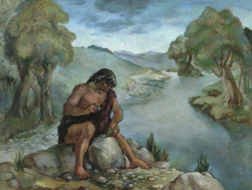 Chandler, Allen, 1887-1969; Later Old Stone Age