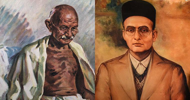 Gandhi-Savarkar_inmarathi