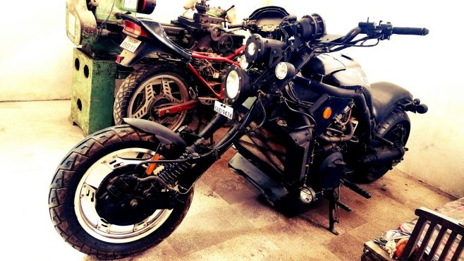 Indian handmade 1000cc motorcycle.Inmarathi