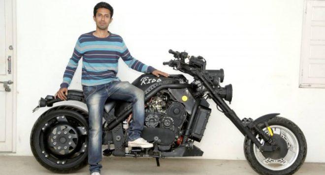 Indian handmade 1000cc motorcycle.Inmarathi1