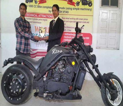 Indian handmade 1000cc motorcycle.Inmarathi2