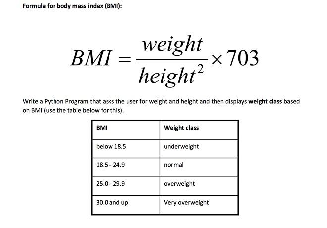 bmi formula InMarathi