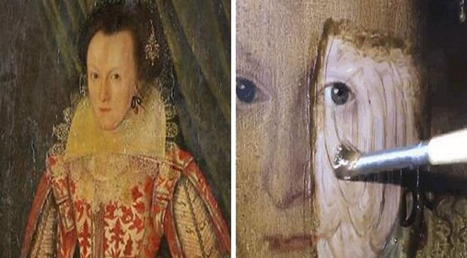 200 year old varnish painting 1 InMarathi