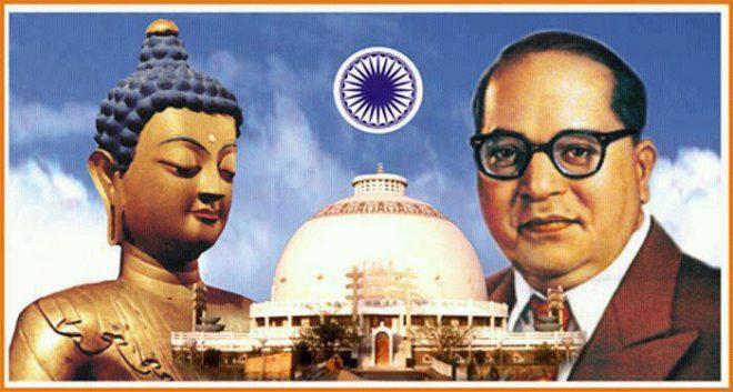 Buddha with ambedkar-inmarathi