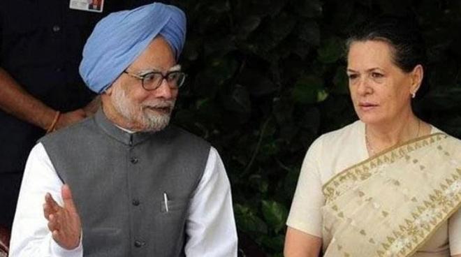 manmohan singh and sonia gandhi inmarathi