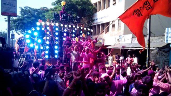 ganpati dj dance inmarathi