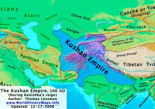 kushan_map-inmarathi