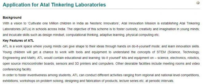 Atal Tinkering Lab Applications inmarathi
