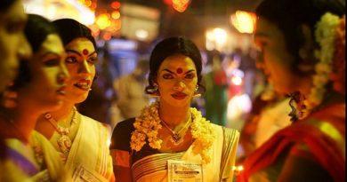 men in saree getup InMarathi