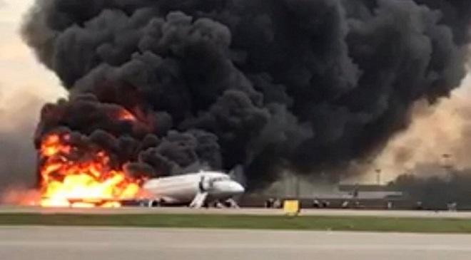 plane on fire InMarathi