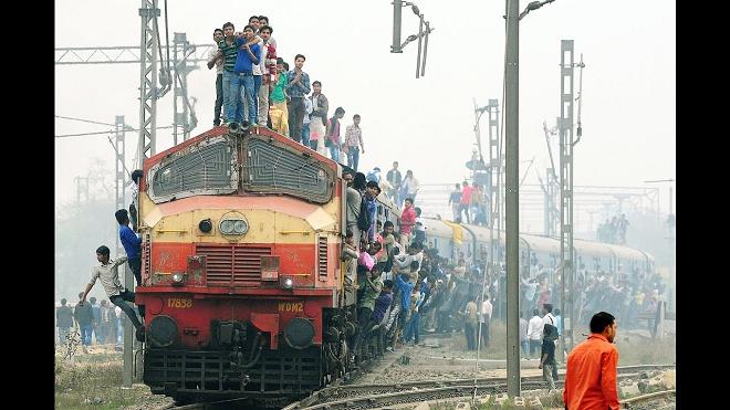 railway crowd inmarathi