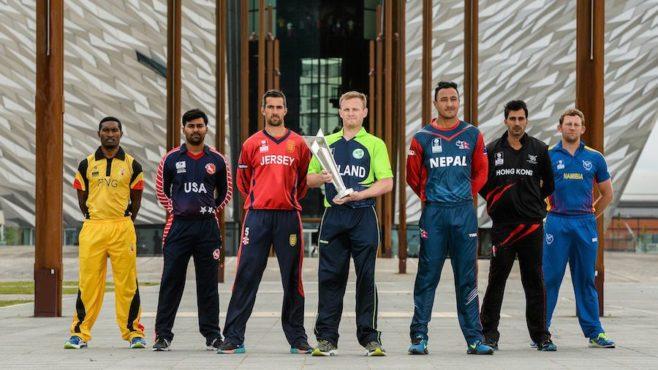 associate countries in cricket inmarathi