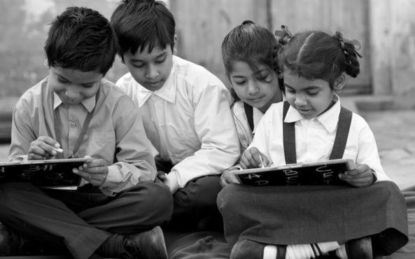 childrens studying inmarathi