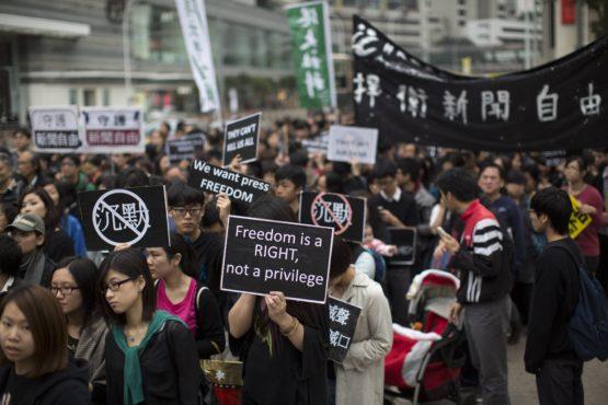 Hong Kong press freedom march