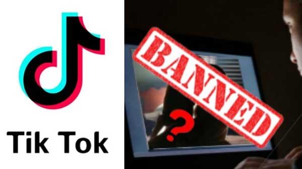 Tik tok banned