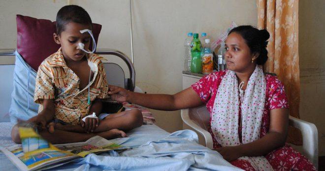 cancer kids inmarathi