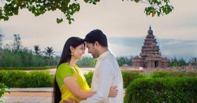 Couple in Temple Inmarathi